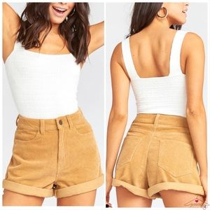 Show Me Your Mumu Raleigh Roll Up Shorts Corduroy